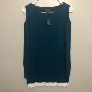 The limited sweater blue petite XXS NWT